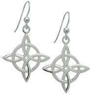 Starlinks Silver Celtic Good Luck Earrings
