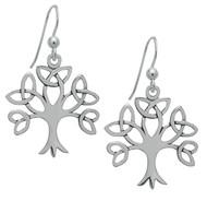 Starlinks Silver Trinity Tree of Life Earrings