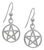 Starlinks Silver Pentacle Earrings for Protection