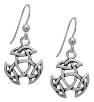 Starlinks Silver Open Triad Dangling Earrings