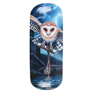 Lisa Parker Heart of the Storm (Owl) Eye Glass Case by Lisa Parker