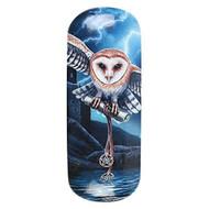 Lisa Parker Heart of the Storm (Owl) Eye Glass Case by Lisa Parker