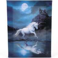 Anne Stokes Moonlight Unicorn Canvas Print By Anne Stokes 7 x 10