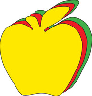 Apple Creative Cut-Outs, 31 Cut-Outs in a Pack for Kids School Craft Projects