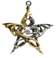 Eastgate Resource Draca Stella for Good Fortune by Anne Stokes Pendant