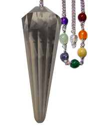 Starlinks Smokey Quartz Facetted Chakra Pendulum for Grounding and Security