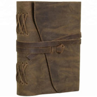 Jurnal Handmade Leather Journal 8x6 inches Antique Style Travel Diary Daily Notebook Cotton Paper