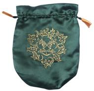 Eastgate Resource Green Satin Green Man Tarot Bag