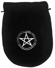 Eastgate Resource Black Velvet Pentagram Tarot Bag