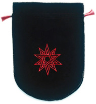 Eastgate Resource Black Velvet Double Pentagram Tarot Bag