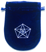 Eastgate Resource Blue Velvet Triple Pentagram Tarot Bag
