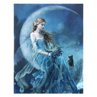 Nene Thomas Wind Moon Fairy Canvas Art Print 7.5 x 10 Inch