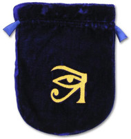 Eastgate Resource Blue Velvet Eye of Horus Tarot Bag