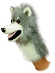 "Aurora World Wolfgang Wolf Hand Puppet 10"" - 06812 Plush Toy Animal"