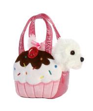 Aurora World Fancy Pals Pet Carrier Sweets Cupcake & Puppy Plush
