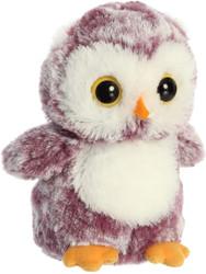 """Aurora - Mini Flopsie - 6.5"""" Heather Owl Plush Toy Animal"""