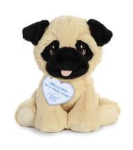 "Aurora Precious Moments 8.5"" Bella Pug Plush Toy Animal"