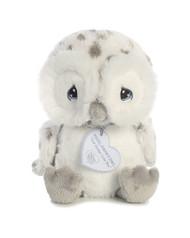 """Aurora - Precious Moments - 8.5"""" Nigel Snowy Owl Plush Toy Animal"""