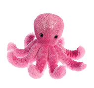 Aurora World Sea Sparkles Octavia Octopus, Pink Plush Toy Animal
