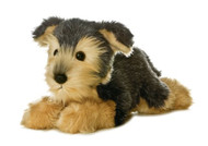 """Aurora World Flopsie Yorky Dog 12"""" Plush Toy Animal"""