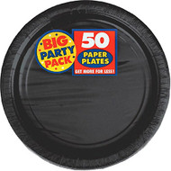 Big Party Pack Paper Luncheon Plates 7-Inch, 50/Pkg, Black