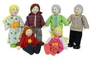 Hape - Caucasian Family Doll Set