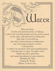 Water Invocation 8 1/2 x 11 Parchment Print