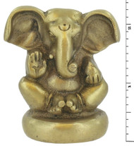 Triloka - Ganesh Statue Recycled Brass - 2.25 in.