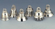 """One Dozen about 0.75"""" High Silver Tone Bells Wedding Motorcycle Chrome Plated Brass Bells"""