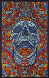 Sunshine Joy 3D Mindful Skull Tapestry Beach Sheet Hanging Wall Art Magical Decor - 60x90 Inches - Amazing 3-D Effects