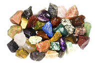 """12 Pounds of Bulk Rough INDIA Stone Mix - Over 25 Stone Types - Large 1"""" Natural Raw Stones & Fountain Rocks for Cabbing, Tumbling, Lapidary & Polishing and Reiki Healing"""