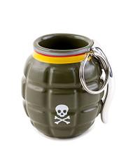 Hand Grenade Shot Glass Novelty Bar Drinking Glass