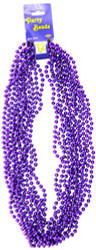 Party Beads - Small Round (purple)    (12/Card)