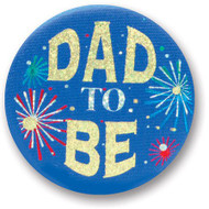 """Dad To Be Satin Button 2"""" Party Accessory"""