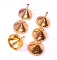 Small Metal Funnels for Filling Small Mini Bottles or Containers (Set of 6)