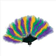 Beistle 57221 Mardi Gras Feather Fan, 12-Inch by 20-Inch