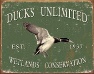 "Ducks Unlimited - Since 1937 Metal Tin Sign 16""W x 12.5""H"