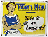 Schonberg - Today's Menu Tin Sign
