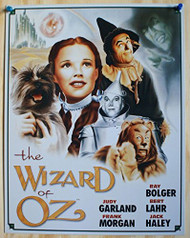 Wizard of Oz Cast Illustrated Tin Sign