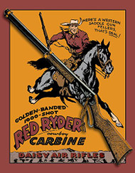 Daisy Red Ryder Carbine Tin Sign 13 x 16in