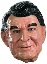 Disguise Reagan Vinyl Costume Mask, Tan/Black/White, Adult