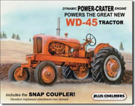 Allis Chalmers WD-45 12' x 16' metal sign