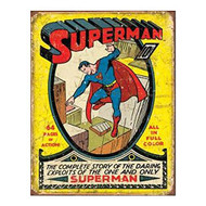 Superman No1 Cover Tin Sign 13 x 16in