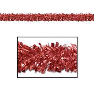 "Beistle 50281-R 6-Ply Flame Resistant Red Metallic Festooning Garland, 4"" x 15'"