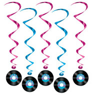Rock and Roll Record Whirls Package of 5