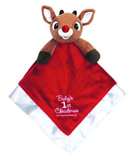 Kids Preferred Baby's First Christmas Blanket, Rudolph