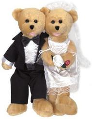 Chantilly Lane Singing Bride and Groom Duet Bears