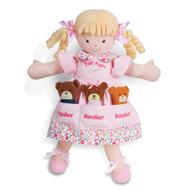North American Bear Dolly Pockets Goldilocks and The 3 Bears Plush
