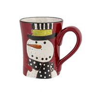 Grassllands Road Snowman Pottery Mug