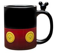 Zak Designs Porcelain Mug with Mickey Mouse Art and Figurine, BPA-free, 18 oz.